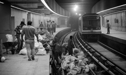 پایان عملیات بتن ریزی بخش شمالی ایستگاه شاهد
