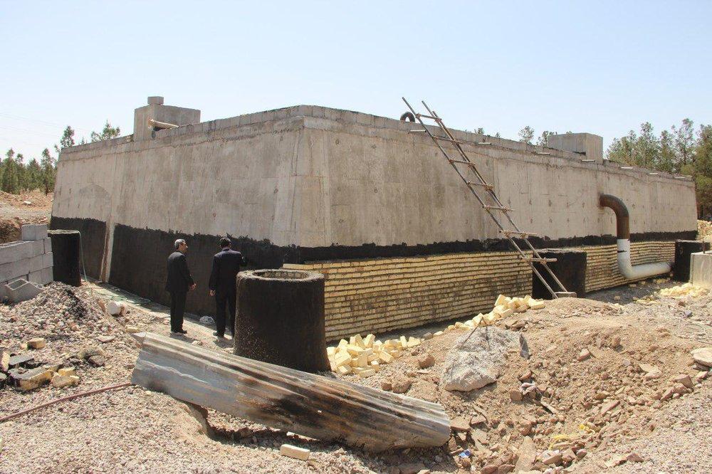 احداث منبع ذخیره آب ۳۵۰ مترمکعبی در شهر گوگد