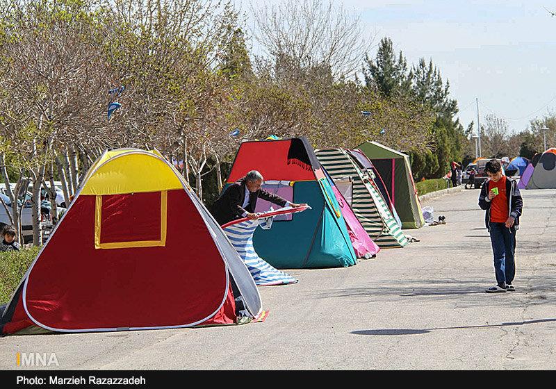 جمع آوری ۶۶ چادر مسافرتی و سه دستفروش در شهر اصفهان