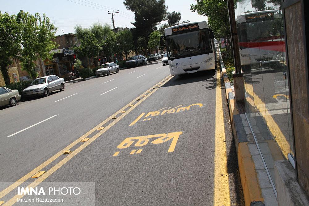 بهسازی مسیر ویژه بی آرتی خیابان شیرازی مشهد تا نیمه مردادماه