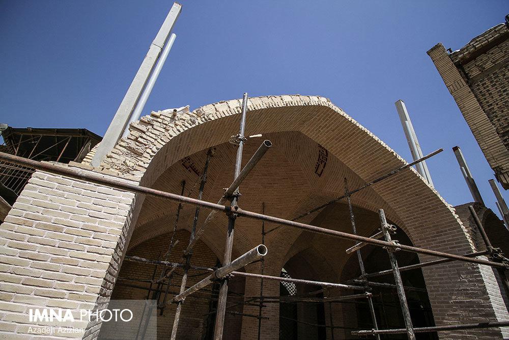 آغاز مرمت بنای قاجاری در گلپایگان
