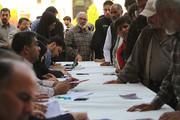 حضور مردم در شعبه اخذ رای-میدان امام (ره)