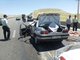 ۶ مجروح بر اثر تصادف پژو و تویوتا در جاده زرین شهر