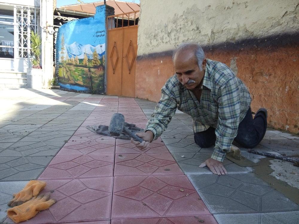 پیشرفت ۸۵ درصدی پروژه پیادهروسازی خیابان پروین
