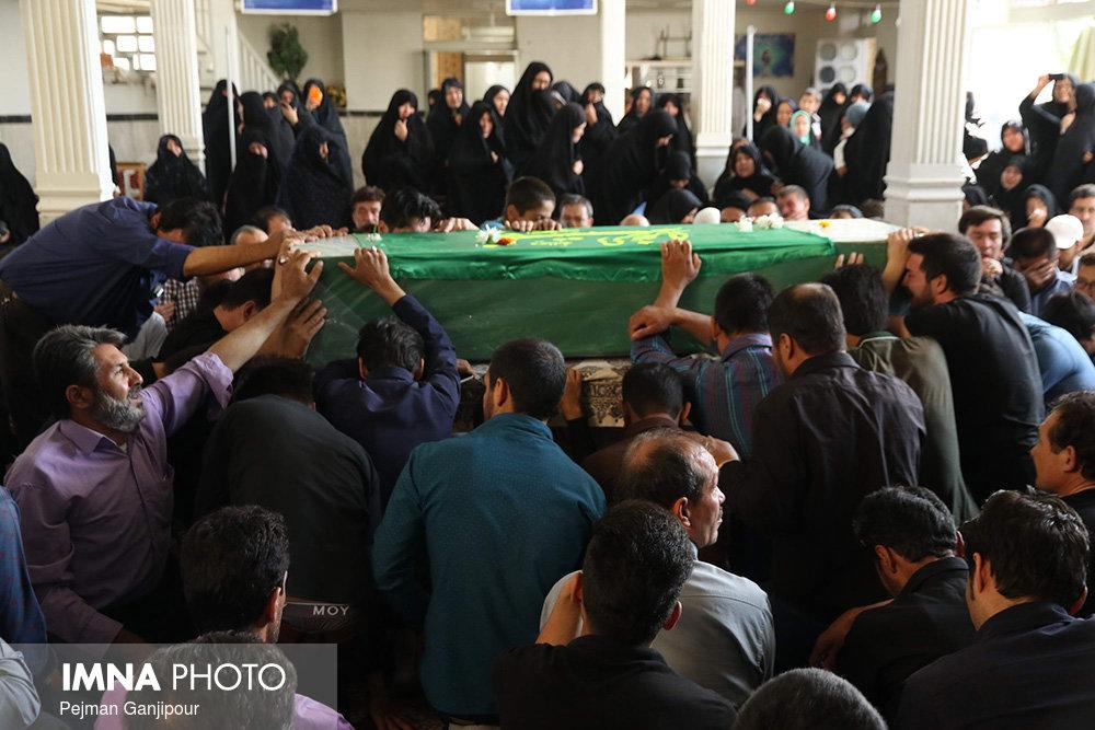 پیکر یک جانباز شهید در اصفهان تشییع شد