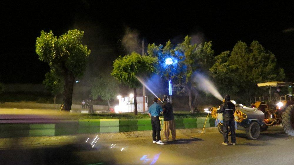 اتمام مرحله نخست سمپاشی درختان شهر تا پایان فروردین ۱۴۰۰