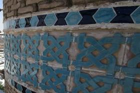 نصب کتیبه کاشی کاری منار زین الدین در کاشان