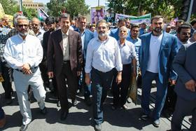 حضور شهردار ، معاونین و کارکنان مدیریت شهری اصفهان در راهپیمایی روز جهانی قدس