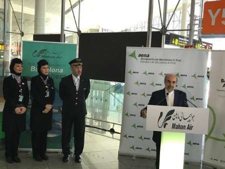 Iran-Spain launch direct flight