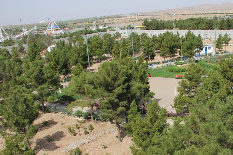 تزئین بوستانهای کرمانشاه با درختچههای چند ساله