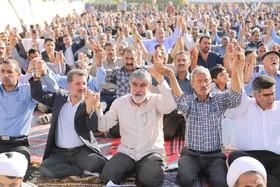 نماز عید فطر مردم ورنامخواست+تصاویر