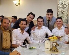 سپاهانیها در جشن ازدواج دروازهبان تیم ملی + عکس