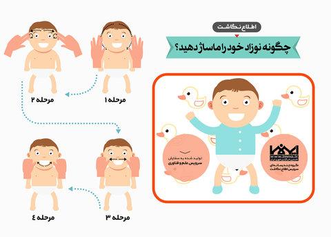 اطلاع نگاشت ماساژ نوزاد