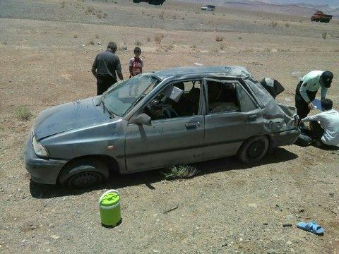 واژگونی خودرو باعث مرگ یک جوان ۲۰ ساله شد