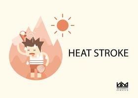 Heatstroke requires emergency treatment