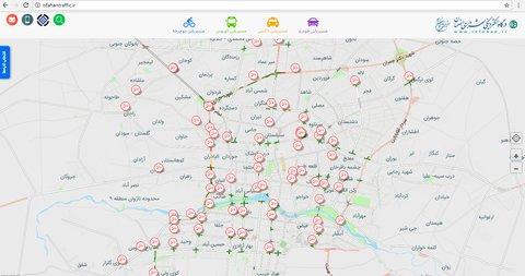نقشه ترافیک شهر اصفهان