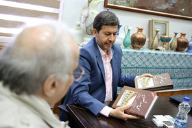 دیدار خسرو معتضد با شهردار اصفهان
