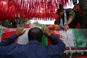 تشییع کاروان شهدا در شهرستان مبارکه