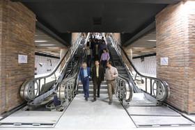 بازدید شهردار و عضو شورای شهر اصفهان از روند ساخت و تکمیل پروژه مترو-ایستگاه میدان آزادی