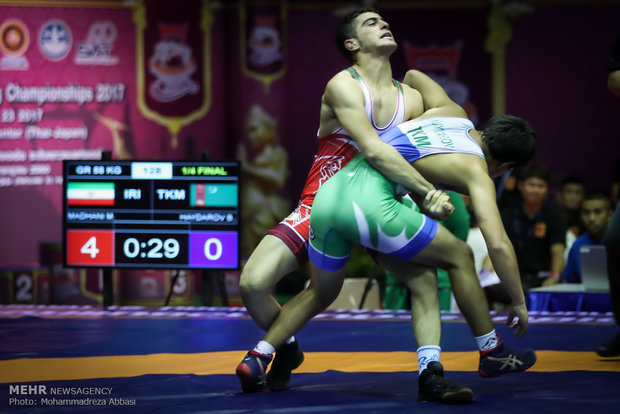 Iran stands 1st at Asian Wrestling Championships in Thailand