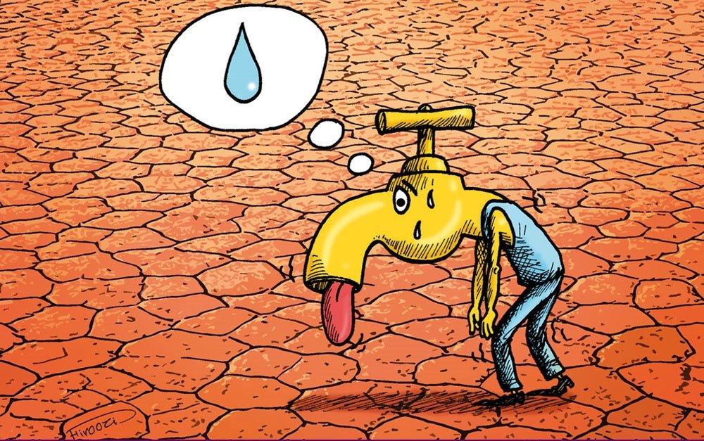 تابلوهای فرهنگ شهروندی صرفه جویی در مصرف آب را هشدار می دهد