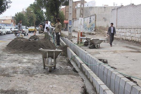 پیشرفت٩٠ درصدی احداث خیابان بهستان