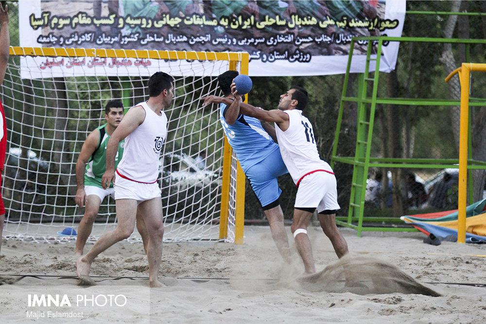 هندبال ساحلی ایران در آسیا سوم شد