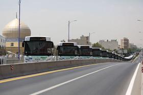 رونمایی از یکصد دستگاه اتوبوس یورو ۴و آغاز عملیات اجرایی خط اتوبوس تندرو خیابان امام خمینی