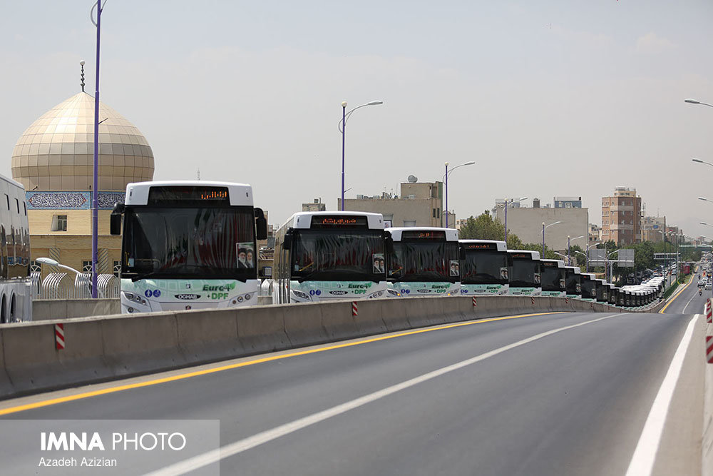 100 Euro 4 buses unveiled/ Isfahan municipality