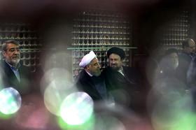 تجدید میثاق رییس جمهور و اعضای دولت با آرمان های امام راحل و شهیدان