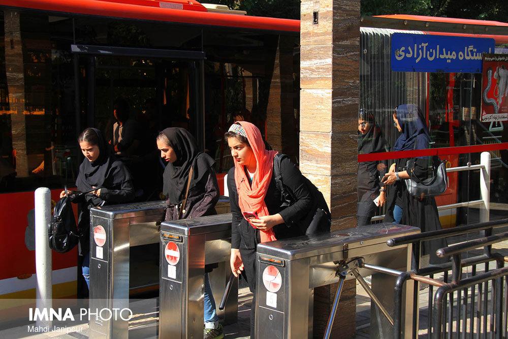 BRT providing welfare for Isfahan inhabitants