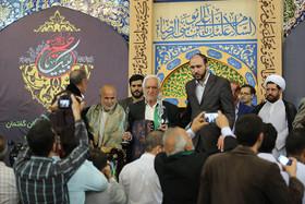 مراسم تجلیل و اقامه نماز  مهمانان پانزدهمین اجلاس پیرغلامان حسینی در حسینیه رضوی