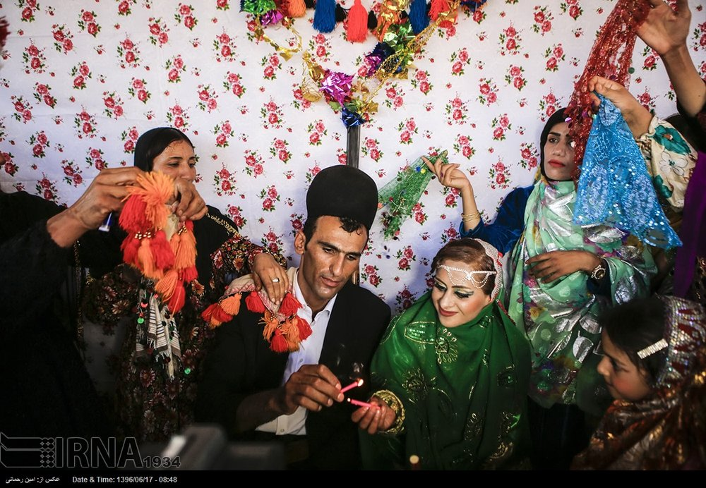 Wedding ceremony of Bakhtiari tribe in western Iran