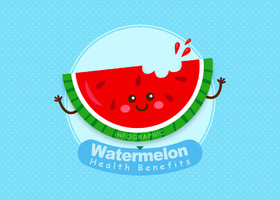 watermelon benefits infographic