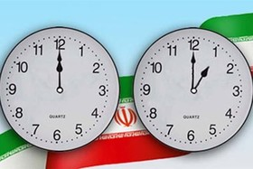 Clocks in Iran moved back by one hour