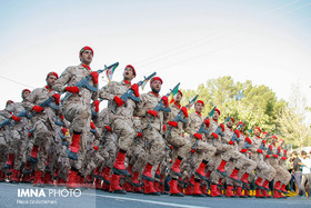 Armed Forces stage military parades in Najafabad, Isfahan