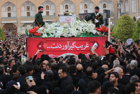 استقبال از پیکر مطهر شهید حججی در میدان امام (ره) اصفهان (۱)