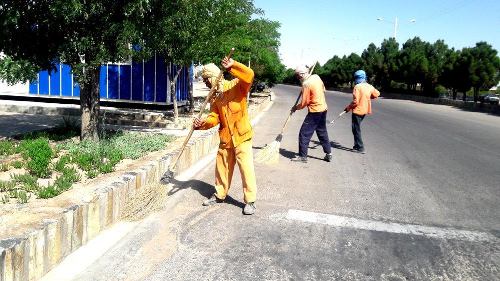 نظافت روزانه ۵۰۰  هزار مترمربع از معابر شهر گلپایگان
