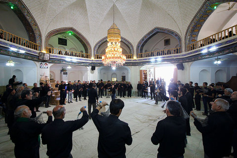 مراسم عزاداری پرسه در شهرستان نائین