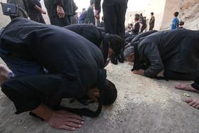 مراسم خاک زار در روستای قورتان