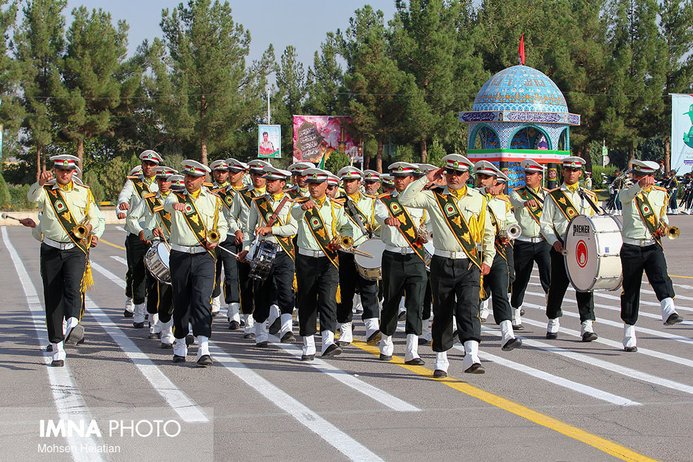 Armed Forces stage morning military parades across Isfahan