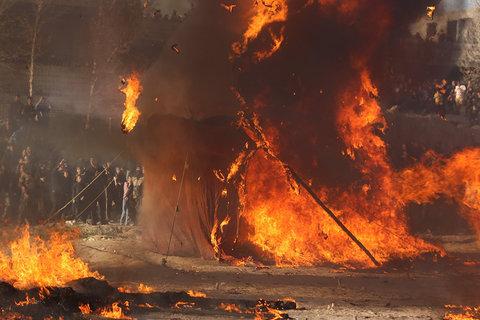 مراسم خیمه سوزان در خمینی شهر
