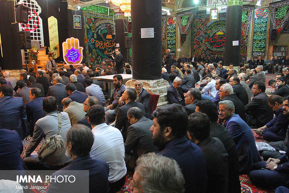مراسم عزاداری امام سجاد .ع در مسجد حاج محمد جعفر