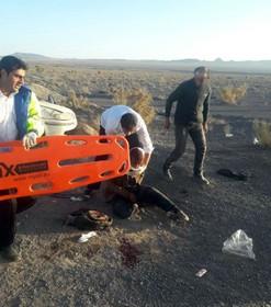 واژگونی خودرو پژو یک فوتی و ۴ مصدوم  داشت