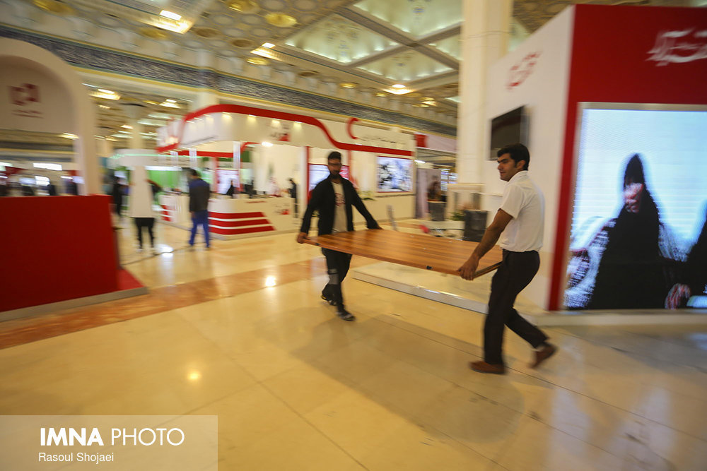 Pavilions being prepared for 23rd Press Exhibition
