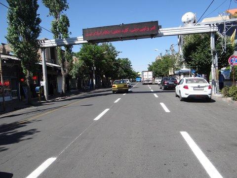 عملیات خطکشی مکانیزه معابر و خیابانهای مشگین شهر