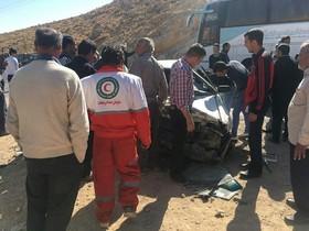 خوابآلودگی راننده علت واژگونی اتوبوس اصفهان-شیراز
