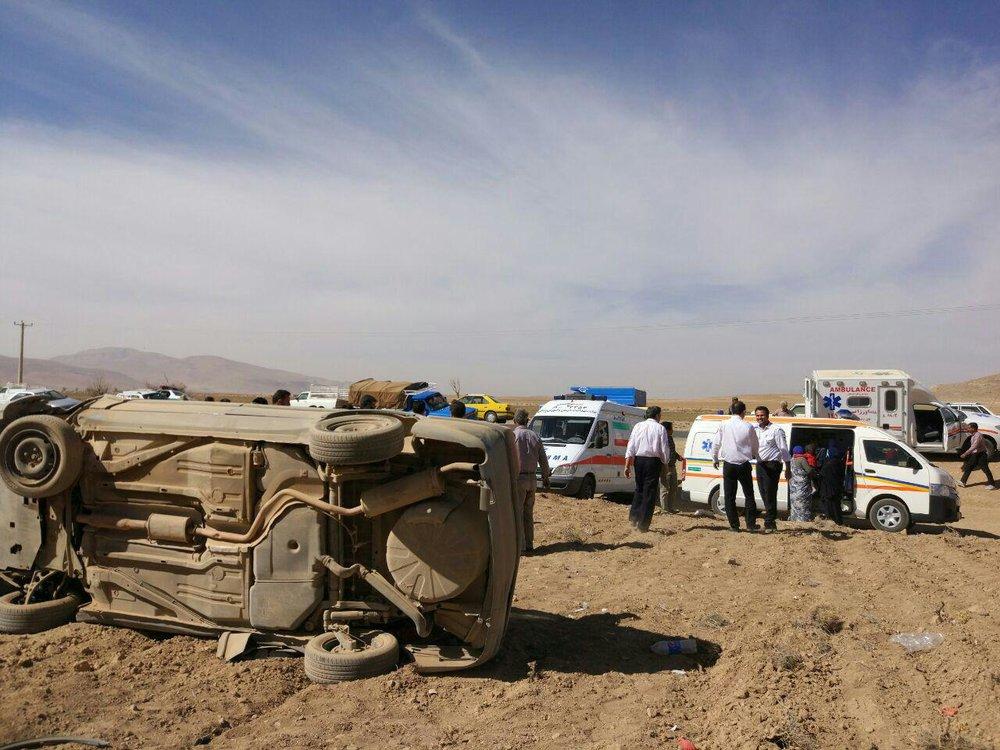 واژگونی خودرو در محور سمیرم_شهرضا دو کشته و یک زخمی بر جای گذاشت