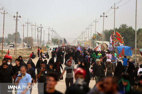 Photo stream of Arbaeen pilgrims to Karbala