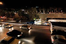 تصادف زنجیره ای در اتوبان شهید آقابابایی